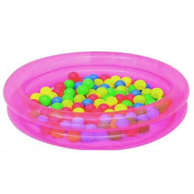 Inflatable 2 Ring Kiddie Wading Pool Ball Pit Pink Or Blue