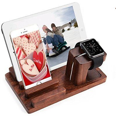 Watch Stand Cell Phone Stand Bamboo Docking Station Shrmia Rosewood Charger