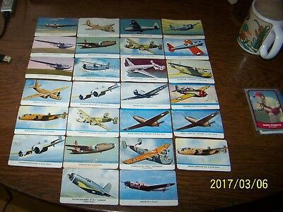 Vintage Series C Aeroplane Collector Cards of the 1940's