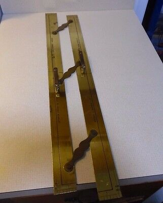 Brass Nautical Rule Maritime Navigational Ruler By Kelvin And Hughes