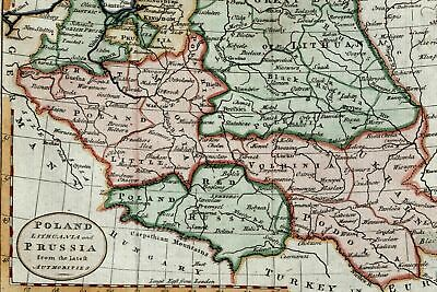 Poland Lithuania Red Russia Ukraine Black Forest 1788 Kitchin Malinowski M33 map
