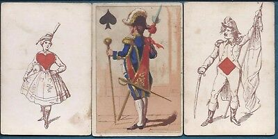"""36 of 52 Jeanne L""""Hachette Transformation Playing Cards Field #44 c1865"""