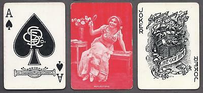 SU3 Standard Society Brand Wide Named Playing Cards Reflections 1900