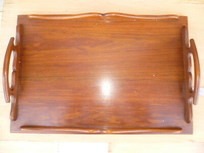 Old Large Size Timber, Wood Drinks, Serving Tray Old Tray (G947)