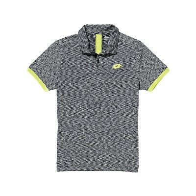 Lotto Men's Summer Space Polo - Black Size US Large