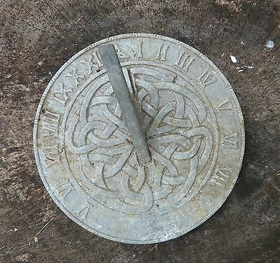 "Aged Metal SUN DIAL ""Forevermore"" Celtic Knot. about 6-1/4"" - SUNDIAL by CARSON"