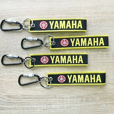 Embroidered Logo YAMAHA Fabric KEYCHAIN Keyring Key Fob Wrist Strap Key Holder
