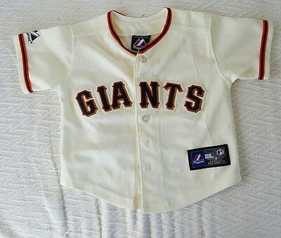 SAN FRANISCO GIANTS Majestic Offical Baseball Jersey Baby Toddler SZ 2 Lincecum