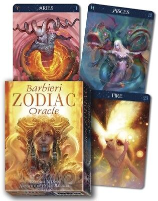 Barbieri Zodiac Oracle Deck -Inspired Astrological Images - 26 Cards & Guidebook