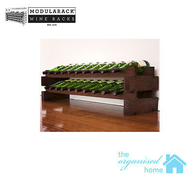 Modularack Timber 20 Bottle Wine Rack 2 Layers of 10