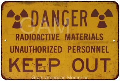 Yellow Danger Radioactive Materials Vintage Reproduction 8 x 12 Sign 8120606