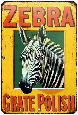 Zebra Grate Polish Vintage Look Reproduction 8x12 Metal Sign 8120912