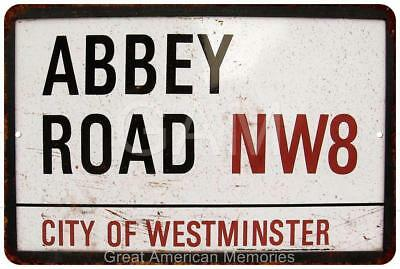 Abbey Road NW8 City of Westminster Vintage Reproduction 8x12 Metal Sign 8121548