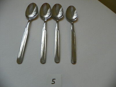 Set Of 4 Cambridge Paige Oval Soup Spoons  Stainless  Flatware