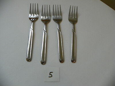 Set Of 4 Cambridge Paige  Salad Forks Stainless  Flatware