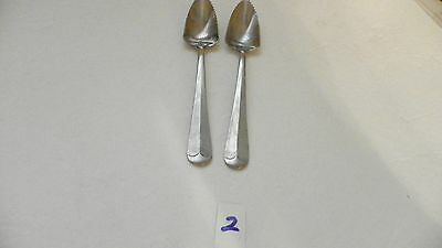Set Of 4  Hoan  Lcu86   Grapefruit Spoons  Stainless Flatware