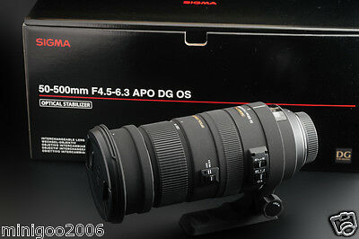 NEW Sigma 50-500mm F4.5-6.3 APO DG OS HSM (50-500 mm) Lens for Nikon*Offer