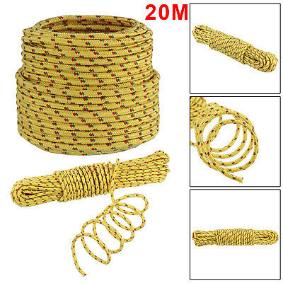 Hot 20M LONG x 6mm THICK ROPE HOLDS 300Kg Yellow Braided Strong Utility Cord