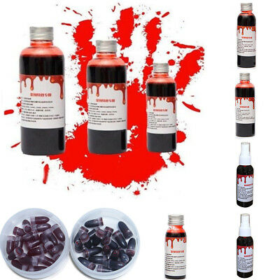 Fake Blood Bleeding Gel Plasma Edible Cosplay Makeup Halloween Costume Prop
