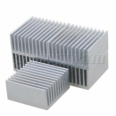 5pcs Silver Aluminium Cooling Fin Radiator Cooler Heat Sink 40x40x20mm
