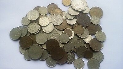 130 Vintage Soviet  Coins. Cold War.USSR.Russia.