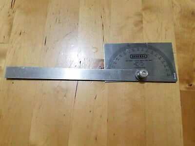 Protractor Square Head Stainless Steel General Tool No. 17 0° - 180° Range