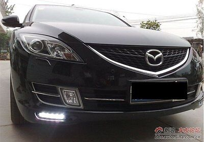 2x LED DRL Driving Daytime Running Day Fog Lamp Light For mazda 6 atenza