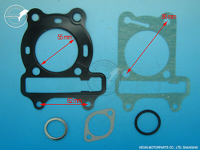 GY6 125cc water-cool Head Gasket set Chinese GY6 HM-125 water-cool engine KYMCO