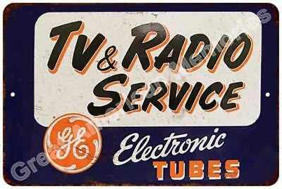 TV & Radio Service Reproduction Metal Sign 8x12 8123323
