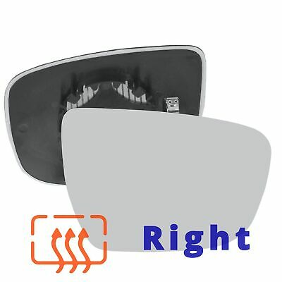 Passenger side Clip Heated Convex wing mirror glass for Fiat Qubo 08-16