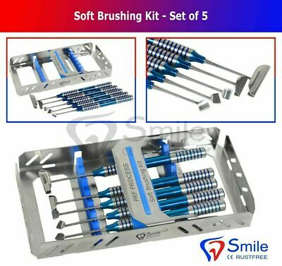 Soft Brushing Kit Set Of 5 Dental Implant Surgery Instrument With Free Cassette