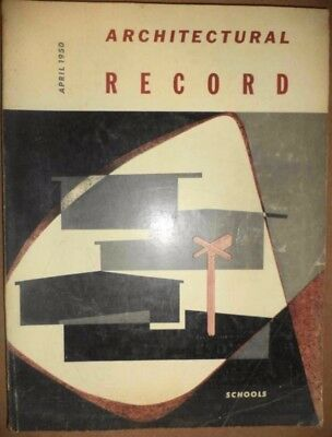 1950 Architectural Record Magazine Architecture Mid-Century Designs Engineering+