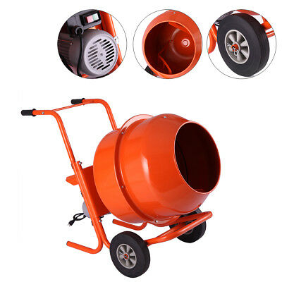 Portable 5Cuft 1/2HP Electric Concrete Cement Mixer Barrow Machine Mixing Mortar