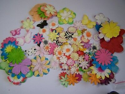 Mulberry Layering Flowers- Mixed sizes 50 pcs Craft, Kids Decorate, Card Making