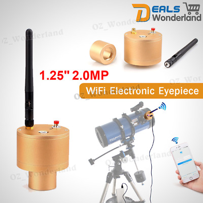 "Smart 1.25"" 2.0MP Webcam WIFI Electronic Eyepiece CMOS USB Telescope Camera Lens"