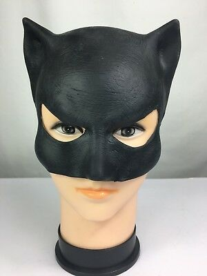 Adult Cat Woman Latex Rubber Mask Halloween Fancy Dress Superhero Accessory