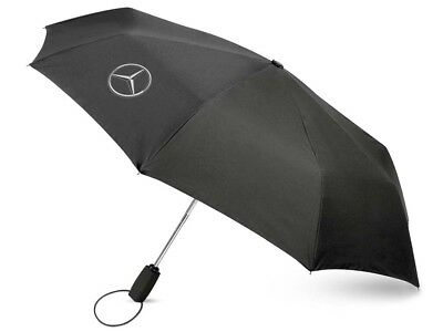 Genuine Mercedes-Benz Black Logo Compact Umbrella B66952631 NEW