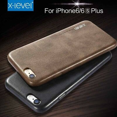 X-Level Geniune Leather Back Case Cover For iPhone X Xr Xs Max 8 7 6S Plus 5S