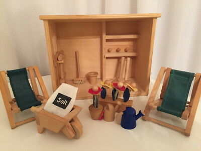 Wooden Dolls House Furniture Large Bundle 99p No Reserve Picclick Uk