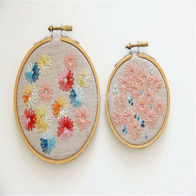 Wooden Cross Stitch Machine Embroidery Hoop Ring Bamboo Sewing 13-26cm New FR