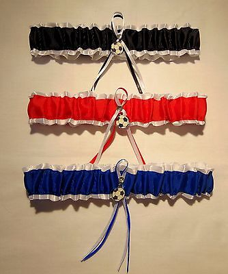 Football bridal wedding garter (available in royal blue-Red-Black)