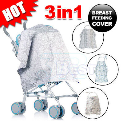 3 in 1 Baby Cotton Breastfeeding Nursing Cover Maternity Generous Blanket Cover
