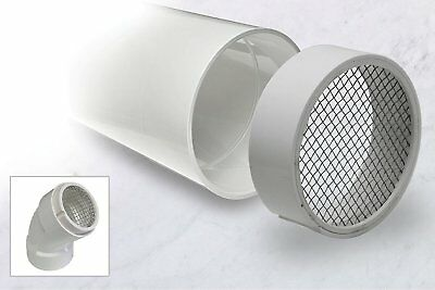 PVC Termination Pipe Vent Hub Raven R1508 With 304 Stainless Steel Screen 2 Inch