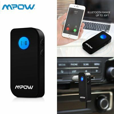 Mpow Wireless Bluetooth Audio A2DP Receiver 3.5mm AUX Adapter Car Music Stereo