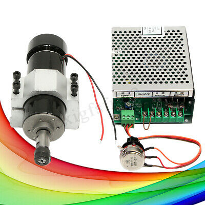 CNC DIY 500W ER11 Chuck Air-Cooled Spindle Motor + 52mm Clamp + Speed governor