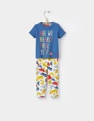 Joules Baby Boys Zach T shirt And Bottoms Set in 100% Cotton in Multi Car Print