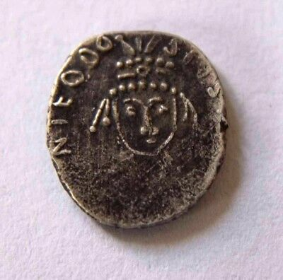 Byzantine Silver Coin Theodosius,with Maurice Tiberius and Constantia 590-602 AD