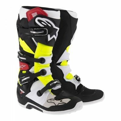 Stivale moto cross enduro pelle Alpinestars tech 7