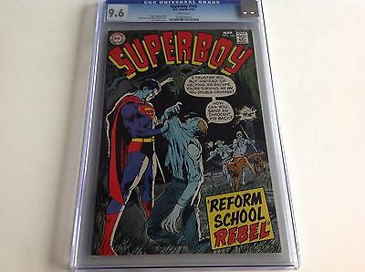 Superboy 163 Cgc 9.6 White Pages Cool Neal Adams Cover Dc 1970 Free Shipping