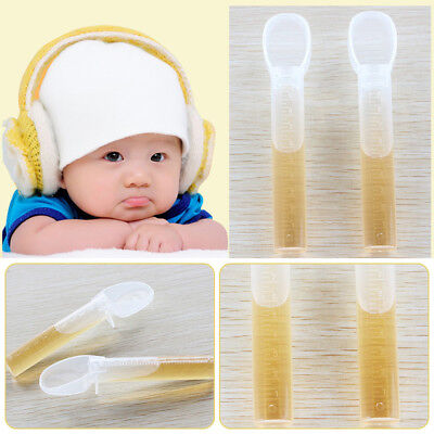 Transparent Baby Feeding Spoons Healthy Silicone Tip Medchine Training Tableware